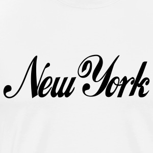 White new york Hoodies - Men's Premium T-Shirt