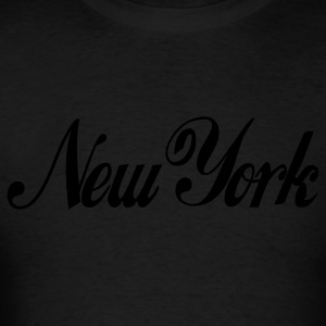 Black new york Hoodies - Men's T-Shirt