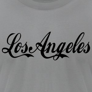 Gray los angeles Long Sleeve Shirts - Men's T-Shirt by American Apparel