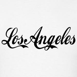 White los angeles Hoodies - Men's T-Shirt
