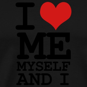 Black i love me myself and i Hoodies - Men's Premium T-Shirt