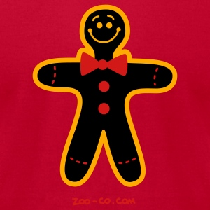 Red Christmas Cookie Man Sweatshirts - Men's T-Shirt by American Apparel