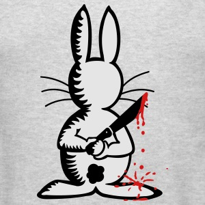 Men's Crewneck Sweatshirt Bunny the Ripper grey - Men's T-Shirt
