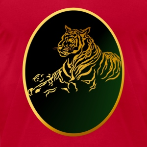 Framed Gold Tiger - Men's T-Shirt by American Apparel