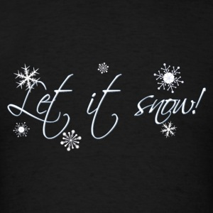 Powder blue Let it Snow! Long Sleeve Shirts - Men's T-Shirt