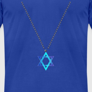 Star Of David Necklace - Men's T-Shirt by American Apparel