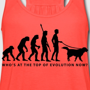 Brown evolution_dog_b T-Shirts - Women's Flowy Tank Top by Bella