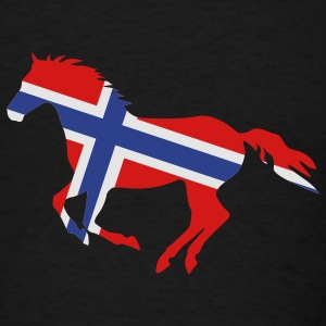 Black Norway Flag Horse Other - Men's T-Shirt