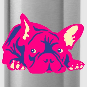 Asphalt french bulldog T-Shirts - Water Bottle