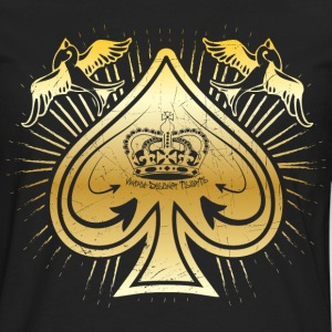 Black Vintage Spade of Spades and Birds Women's T-Shirts - Men's Premium Long Sleeve T-Shirt