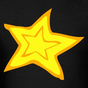 Black star trendy cool two color Long Sleeve Shirts - Men's T-Shirt
