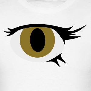 White single eye cool Long Sleeve Shirts - Men's T-Shirt