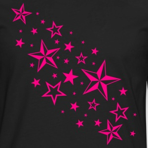 Black Cascading Nautical Stars T-Shirts - Men's Premium Long Sleeve T-Shirt
