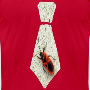 Red Stink Bug Necktie Sweatshirts - Men's T-Shirt by American Apparel