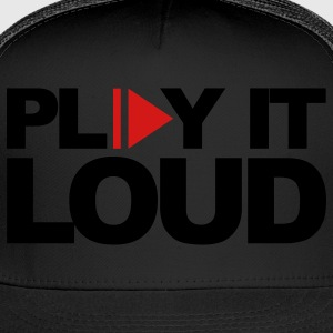 Black Play It Loud Hoodies - Trucker Cap