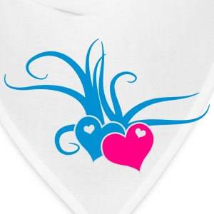 Creme love hearts with whips romance Bags  - Bandana