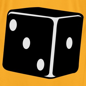 Creme lucky dice single die Bags  - Men's T-Shirt by American Apparel