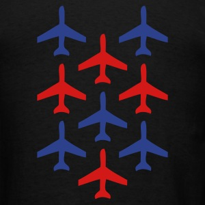 Black top gun planes in formation Bags  - Men's T-Shirt