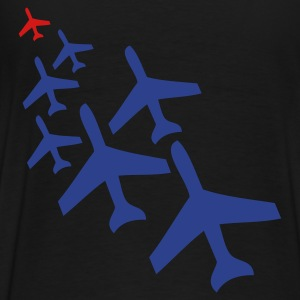 Black top gun planes in a chasing formation Bags  - Men's Premium T-Shirt