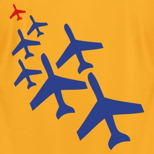 Creme top gun planes in a chasing formation Bags  - Men's T-Shirt by American Apparel
