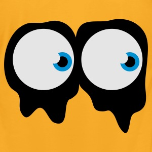 Creme spooky ghost eyes Bags  - Men's T-Shirt by American Apparel