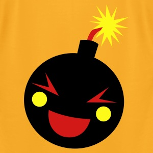 Creme smiling bomb Bags  - Men's T-Shirt by American Apparel
