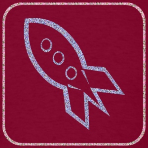 Burgundy A ROCKET-SHIP Hoodies - Men's T-Shirt