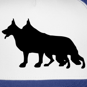White/black German Shepherd Dog T-Shirts - Trucker Cap