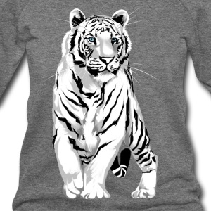 Stately White Tiger - Women's Wideneck Sweatshirt