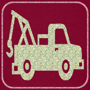 Burgundy A TOW TRUCK Hoodies - Men's T-Shirt