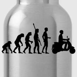 Black evolution_vespa T-Shirts - Water Bottle