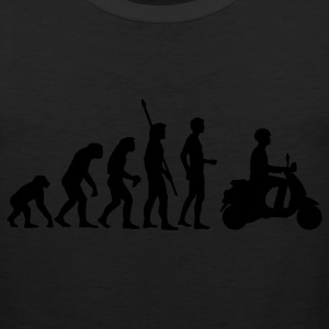Black evolution_vespa T-Shirts - Men's Premium Tank