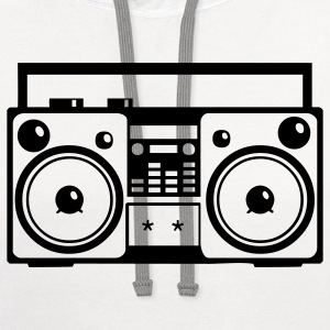Stereo Music Boombox Old School 1c - Contrast Hoodie