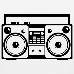 Stereo Music Boombox Old School 1c - Men's Premium Tank