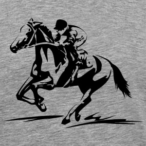 Horse Racing Sport Sweatshirt - Men's Premium T-Shirt