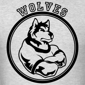 Kelly green Wolf or wolves Custom Teams Graphic Long Sleeve Shirts - Men's T-Shirt