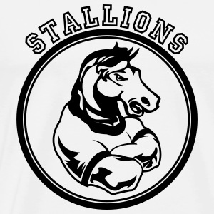 White Stallions Custom Teams Graphic Long Sleeve Shirts - Men's Premium T-Shirt