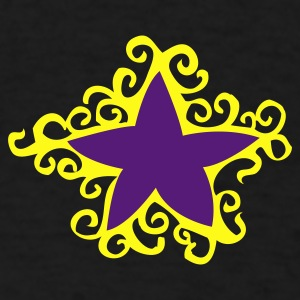 Black star with outer curls Other - Men's T-Shirt