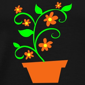 Black potplant with flowers Other - Men's Premium T-Shirt