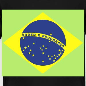 Black Brazilian Flag Kids' Shirts - Toddler Premium T-Shirt