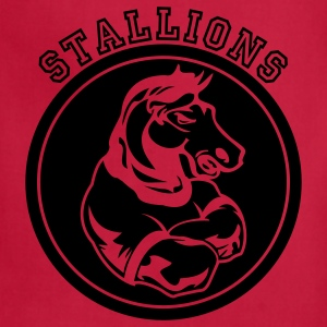 Brown Stallions or Stallion Team Graphic T-Shirts - Adjustable Apron