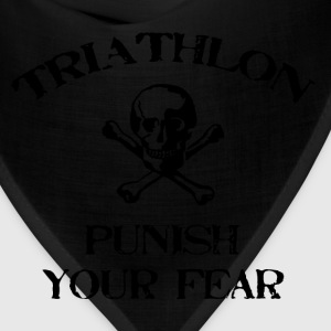 Khaki Triathlon Punish Your Fear T-Shirts - Bandana