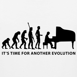 White evolution_pianist_b Kids' Shirts - Men's Premium Tank