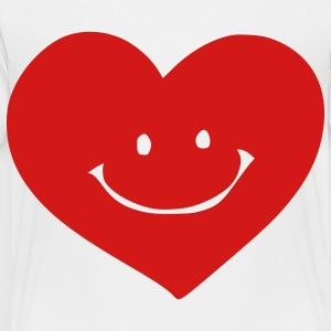 White smile heart Kids' Shirts - Toddler Premium T-Shirt