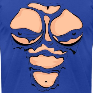 Ripped Muscles Female, chest T-shirt, comicbook breasts - Men's T-Shirt by American Apparel