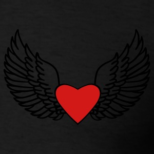 Black Heart and Wings Hoodies - Men's T-Shirt
