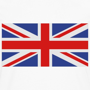 White uk flag Women's T-Shirts - Men's Premium Long Sleeve T-Shirt