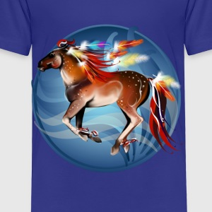 Framed Horse N Bright Feathers - Toddler Premium T-Shirt