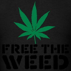 Black Free The Weed Hoodies - Men's T-Shirt