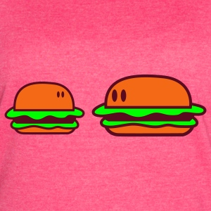 Fuchsia hamburgers looking at each other Tanks - Women's Vintage Sport T-Shirt